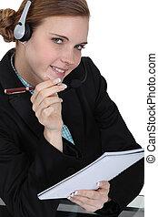 niejaki, kobieta interesu, odpowiadając, niejaki, hotline.