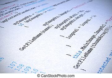 niejaki, printout, od, c#, komputer zaprogramowujący,...