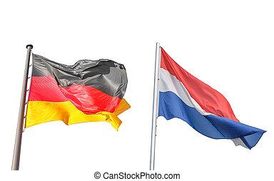 niemcy, i, niderlandy bandera