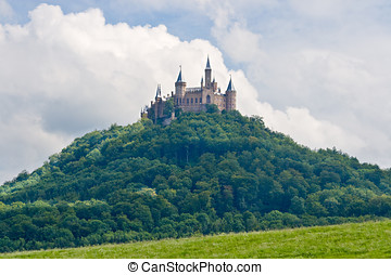 niemcy, zamek, czarny las, hohenzollern