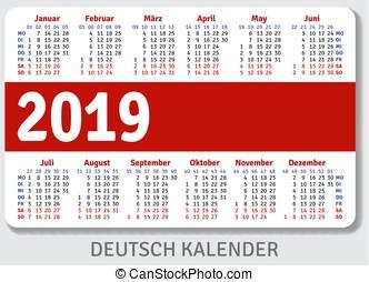 Niemiec Kieszeń Kalendarz 2019 Pionowy 7810 Niemiec Id 1