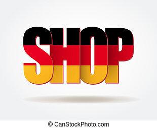niemiec, logo, typografia, sklep, internet