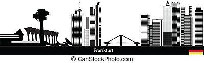niemiec, miasto skyline, frankfurt