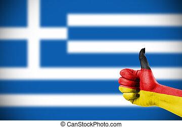 niemiec, poparcie, grecja