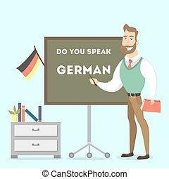 niemiec, teacher., samiec