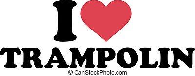 niemiec, trampolina, miłość