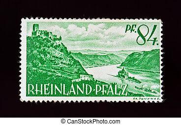 niemiec, znaczek pocztowy