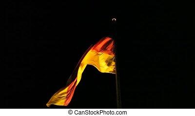 niemiecka bandera, sapie, na, przedimek określony przed...