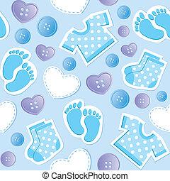 niemowlę błękitne, seamless, próbka
