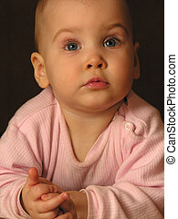 niemowlę, closeup