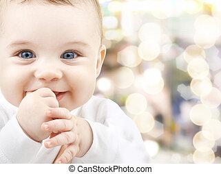 niemowlę, godny podziwu