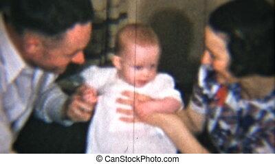 niemowlę, ich, dziewczyna, dumne rodzice