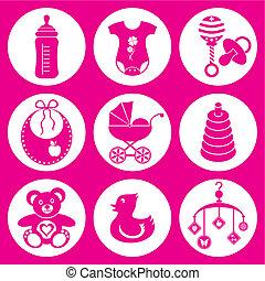 niemowlę, ikony