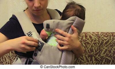niemowlę, jego, nośnik