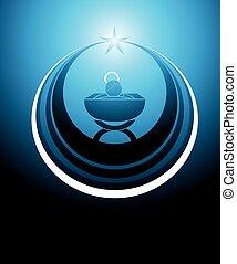 niemowlę jezus, ikona