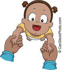 niemowlę, kroki, pierwszy
