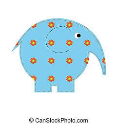niemowlę, kwiaty, słoń, kunszty