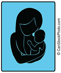 niemowlę, miłość, macierz