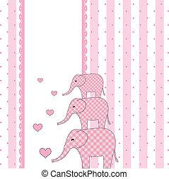 niemowlę, nowy, przelotny deszcz, karta, zaproszenie