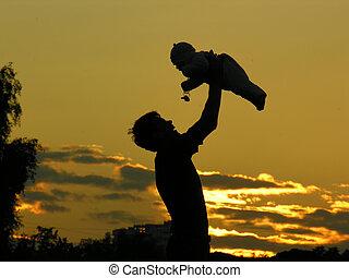 niemowlę, ojciec