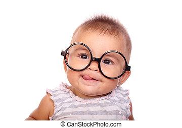 niemowlę, okulary