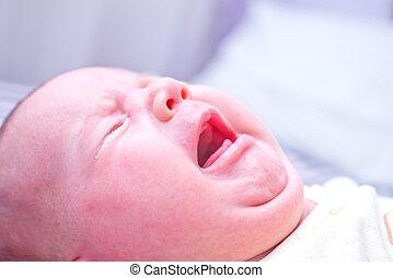 niemowlę, płakać