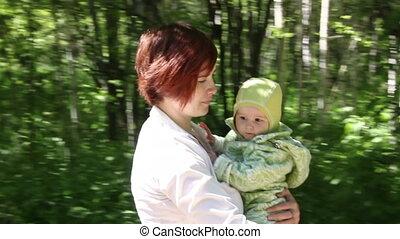 niemowlę, park, interpretacja, macierz