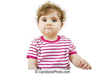 niemowlę, portret, młody