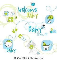 niemowlę przelotny deszcz, elementy, projektować