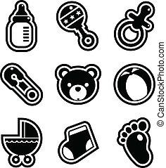 niemowlę przelotny deszcz, ikony