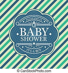 niemowlę przelotny deszcz, karta, zaproszenie