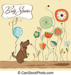 niemowlę przelotny deszcz, karta, zawiadomienie