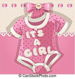 niemowlę przelotny deszcz, różowy, karta