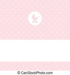 niemowlę, przybycie, karta