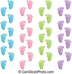niemowlę, stopa kroczy