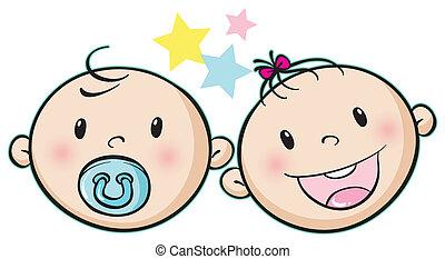 niemowlę, twarze