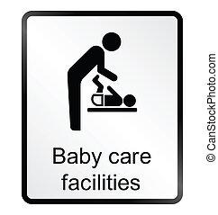 niemowlę, ułatwienia, si, troska, informacja