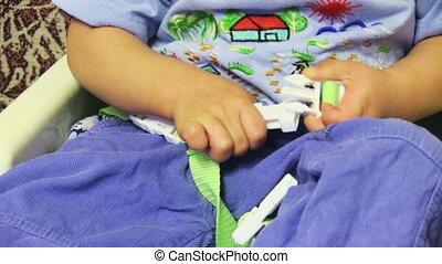 niemowlę, wóz, mały, bezpieczeństwo, miejsce