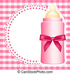 niemowlę, wektor, tło, butelka