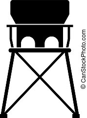 niemowlę, wysoki, podróż, krzesło, przenośny