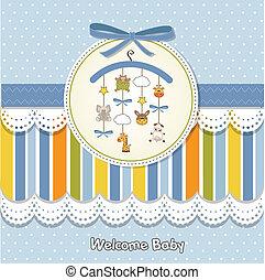 niemowlę, zawiadomienie, karta, pożądany