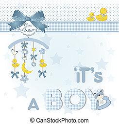 niemowlę, zawiadomienie, pożądany, karta