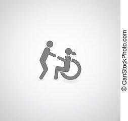 niepełnosprawny, symbol