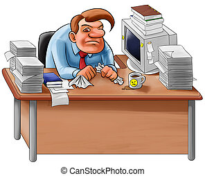 nieporządek, biurko