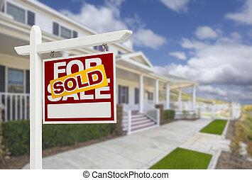 nieruchomość, dom, sprzedany, sprzedaż znaczą, dom