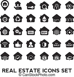 nieruchomość, icons.