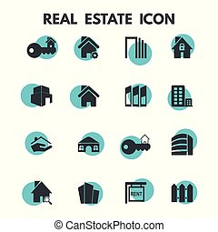 nieruchomość, ikony