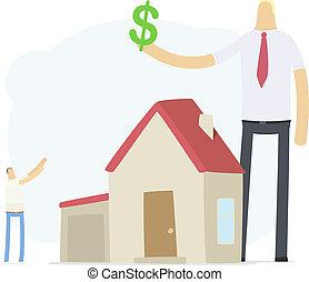 nieruchomość, przyrosty, przedstawiciel, kredyt, stosunek