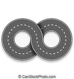 nieskończoność, droga, kształt, znak