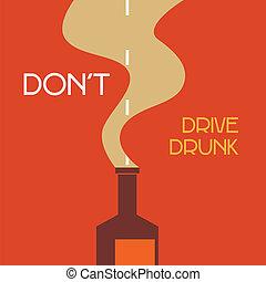 niet, besturen, dronken